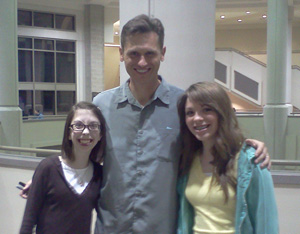 Me and Rachel with Lincoln Hoppe after The Society Comedy show!
